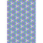 Colorful Retro Geometric Pattern 5.5  x 8.5  Notebooks Front Cover