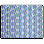 Colorful Retro Geometric Pattern Fleece Blanket (Medium)  60 x50 Blanket Front