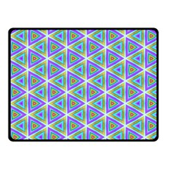 Colorful Retro Geometric Pattern Fleece Blanket (Small)