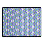 Colorful Retro Geometric Pattern Fleece Blanket (Small) 50 x40 Blanket Front