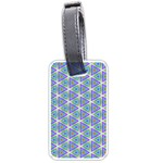 Colorful Retro Geometric Pattern Luggage Tags (Two Sides) Back