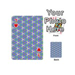 Colorful Retro Geometric Pattern Playing Cards 54 (Mini)  Front - Heart7