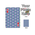Colorful Retro Geometric Pattern Playing Cards 54 (Mini)  Front - Heart10
