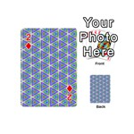 Colorful Retro Geometric Pattern Playing Cards 54 (Mini)  Front - Diamond2