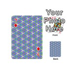 Colorful Retro Geometric Pattern Playing Cards 54 (Mini)  Front - Diamond7