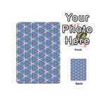 Colorful Retro Geometric Pattern Playing Cards 54 (Mini)  Back