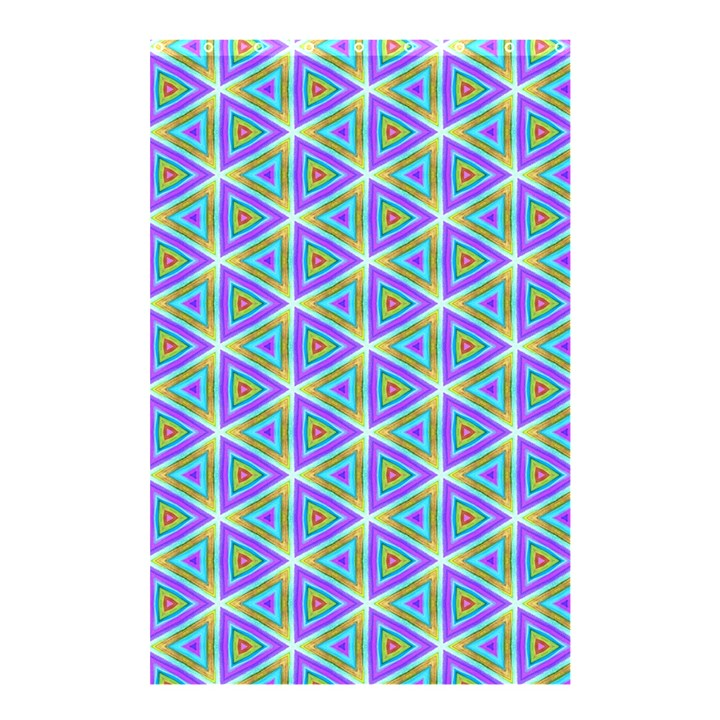 Colorful Retro Geometric Pattern Shower Curtain 48  x 72  (Small)