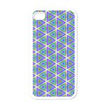 Colorful Retro Geometric Pattern Apple iPhone 4 Case (White) Front