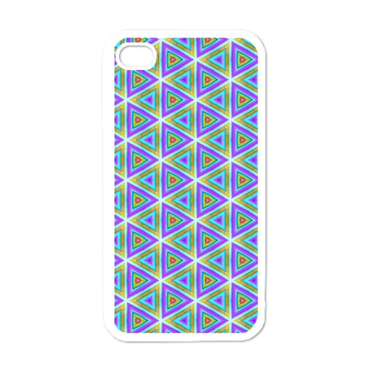 Colorful Retro Geometric Pattern Apple iPhone 4 Case (White)