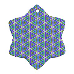 Colorful Retro Geometric Pattern Ornament (Snowflake)