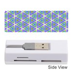 Colorful Retro Geometric Pattern Memory Card Reader (Stick)  Front