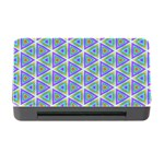 Colorful Retro Geometric Pattern Memory Card Reader with CF Front