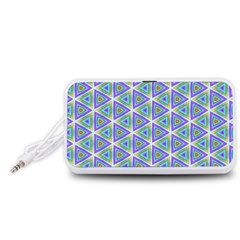 Colorful Retro Geometric Pattern Portable Speaker (White)