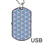 Colorful Retro Geometric Pattern Dog Tag USB Flash (Two Sides)  Back