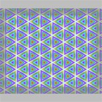 Colorful Retro Geometric Pattern Deluxe Canvas 20  x 16   20  x 16  x 1.5  Stretched Canvas