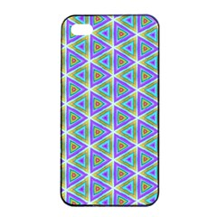 Colorful Retro Geometric Pattern Apple Iphone 4/4s Seamless Case (black)
