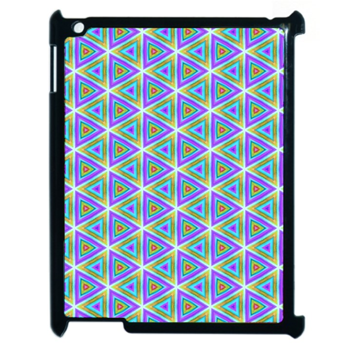 Colorful Retro Geometric Pattern Apple iPad 2 Case (Black)