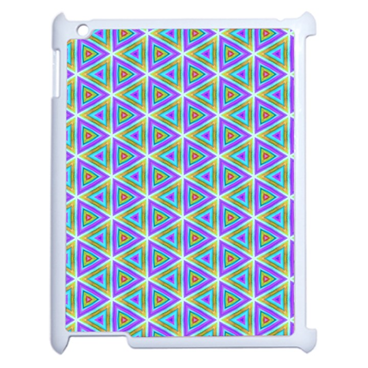 Colorful Retro Geometric Pattern Apple iPad 2 Case (White)