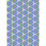 Colorful Retro Geometric Pattern LOVE Bottom 3D Greeting Card (7x5) Inside