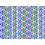Colorful Retro Geometric Pattern LOVE Bottom 3D Greeting Card (7x5) Back
