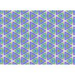 Colorful Retro Geometric Pattern HOPE 3D Greeting Card (7x5) Back