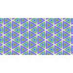 Colorful Retro Geometric Pattern Happy New Year 3D Greeting Card (8x4) Front