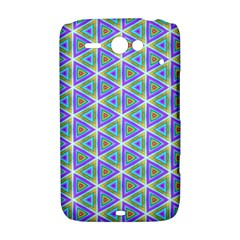 Colorful Retro Geometric Pattern HTC ChaCha / HTC Status Hardshell Case