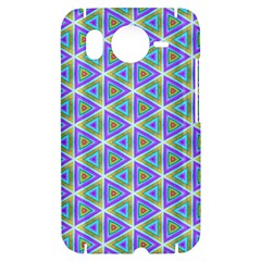 Colorful Retro Geometric Pattern HTC Desire HD Hardshell Case