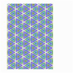 Colorful Retro Geometric Pattern Large Garden Flag (Two Sides) Back