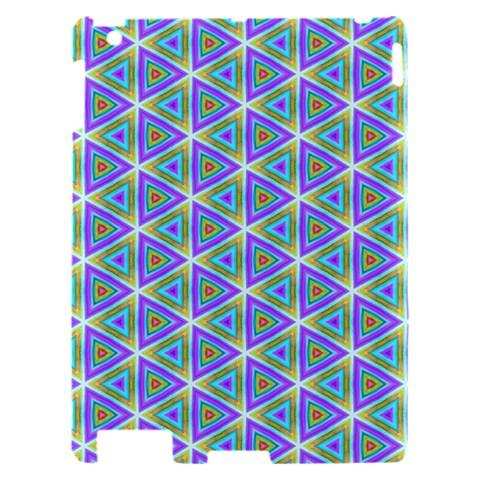 Colorful Retro Geometric Pattern Apple iPad 2 Hardshell Case