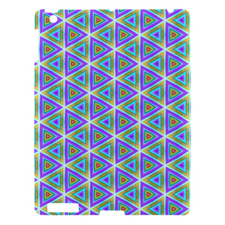 Colorful Retro Geometric Pattern Apple iPad 3/4 Hardshell Case