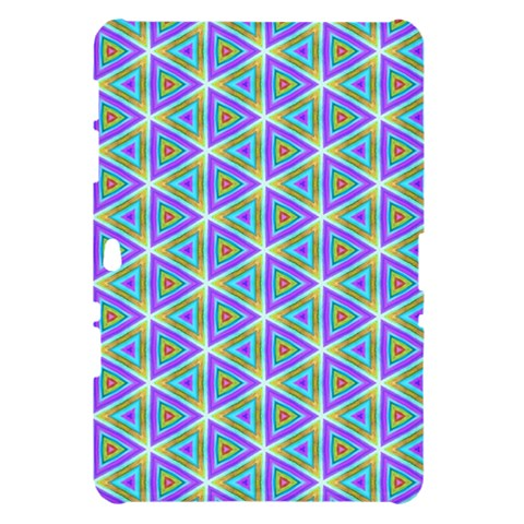 Colorful Retro Geometric Pattern Samsung Galaxy Tab 10.1  P7500 Hardshell Case