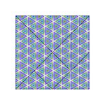 Colorful Retro Geometric Pattern Acrylic Tangram Puzzle (4  x 4 ) Front