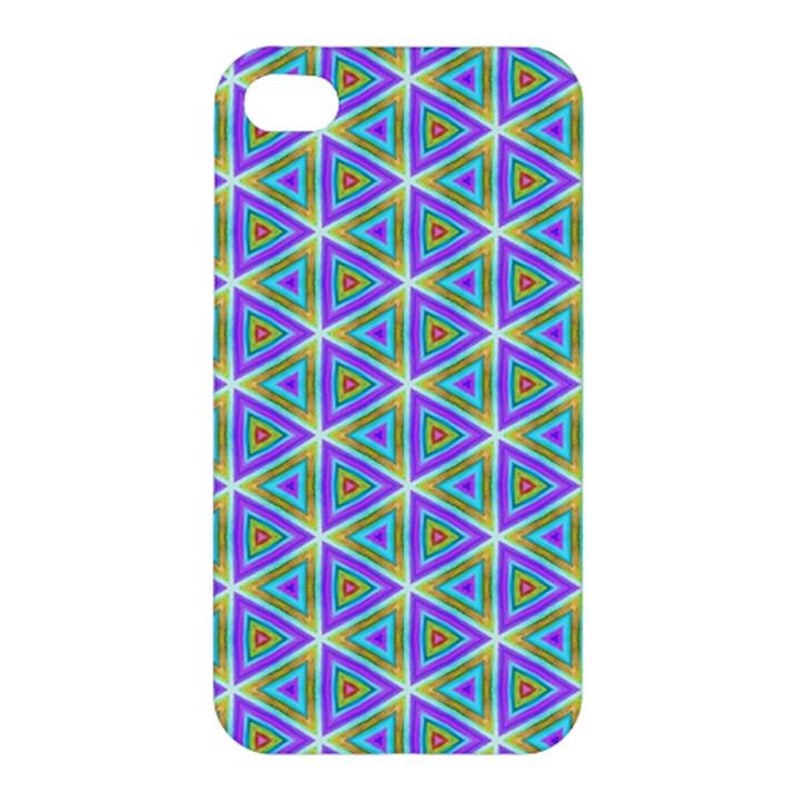 Colorful Retro Geometric Pattern Apple iPhone 4/4S Premium Hardshell Case