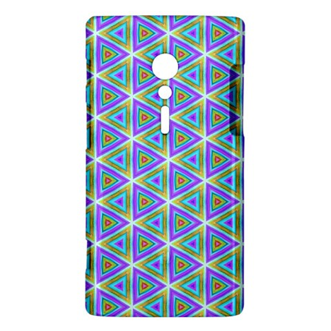 Colorful Retro Geometric Pattern Sony Xperia ion