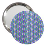 Colorful Retro Geometric Pattern 3  Handbag Mirrors Front