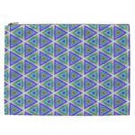 Colorful Retro Geometric Pattern Cosmetic Bag (XXL)  Front