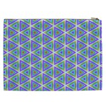 Colorful Retro Geometric Pattern Cosmetic Bag (XXL)  Back