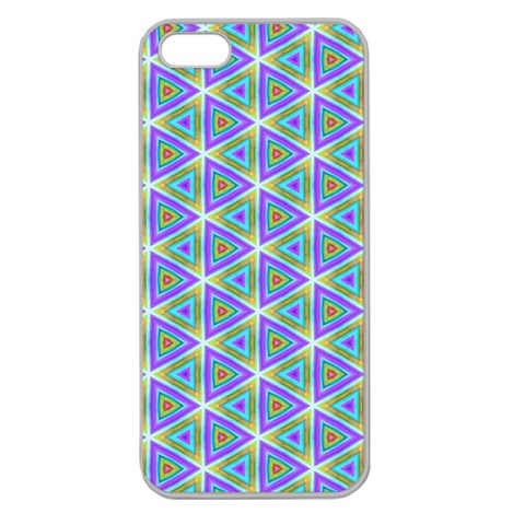 Colorful Retro Geometric Pattern Apple Seamless iPhone 5 Case (Clear)