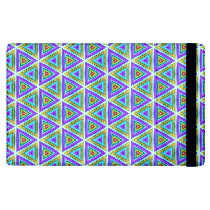 Colorful Retro Geometric Pattern Apple iPad 3/4 Flip Case