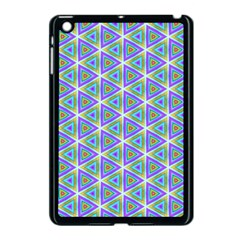 Colorful Retro Geometric Pattern Apple Ipad Mini Case (black)