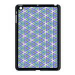 Colorful Retro Geometric Pattern Apple iPad Mini Case (Black) Front