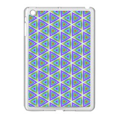 Colorful Retro Geometric Pattern Apple iPad Mini Case (White)