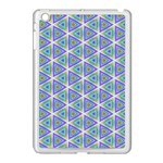 Colorful Retro Geometric Pattern Apple iPad Mini Case (White) Front
