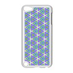 Colorful Retro Geometric Pattern Apple iPod Touch 5 Case (White) Front