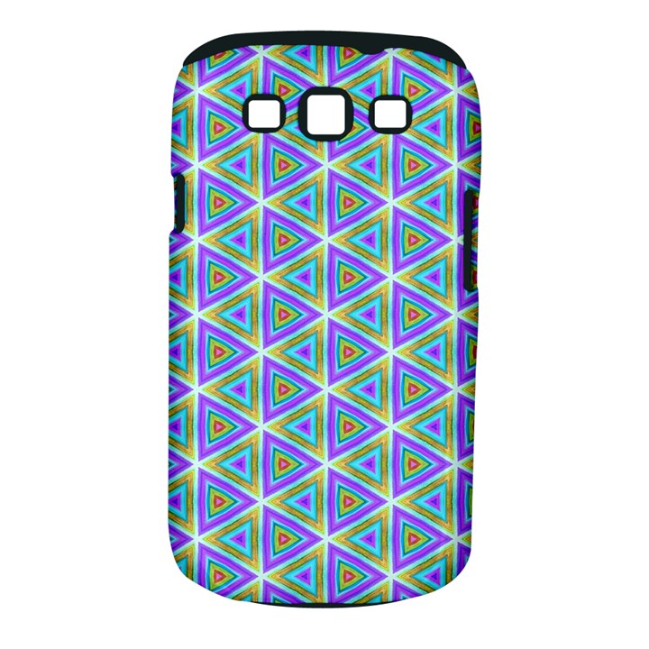 Colorful Retro Geometric Pattern Samsung Galaxy S III Classic Hardshell Case (PC+Silicone)