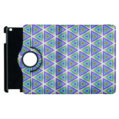 Colorful Retro Geometric Pattern Apple Ipad 2 Flip 360 Case