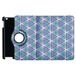 Colorful Retro Geometric Pattern Apple iPad 3/4 Flip 360 Case Front