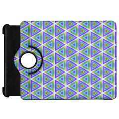 Colorful Retro Geometric Pattern Kindle Fire HD Flip 360 Case