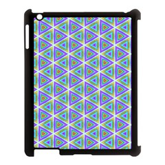 Colorful Retro Geometric Pattern Apple Ipad 3/4 Case (black)